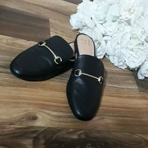 A New Day Remy Backless Faux leather Loafers